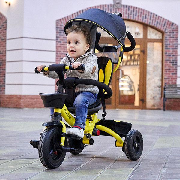 велосипед детский с ручкой трехколесный от 1 года